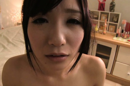 Ringo aoi. Ringo Aoi Asian with fine breasts has shaved wet vagina fingered