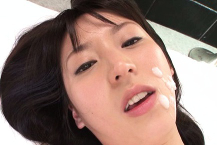 Yuuki itano. Yuuki Itano Asian gets cumshot on face after doggy in shaved crack