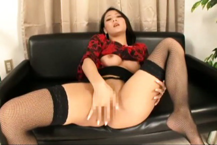 Koi azumi. Koi Azumi Asian in stockings shows hot butthole and