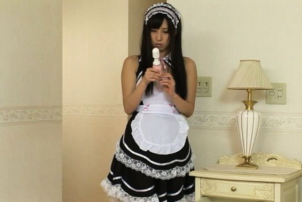 Yuuki itano. Yuuki Itano Asian in lusty house keeper outfit receives dildo