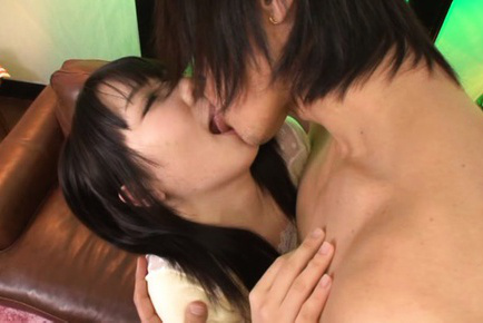 Kokoa aisu. Kokoa Aisu Asian has tongue stuck in mouth and large boobs fondled
