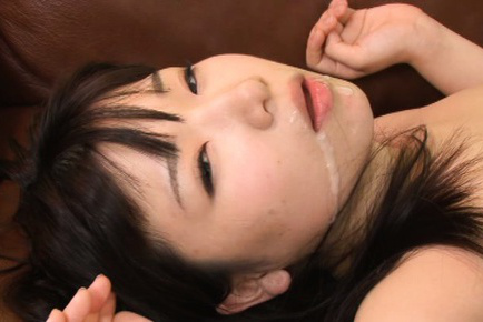 Kokoa aisu. Kokoa Aisu Asian has round tits fondled and mouth pouring cumshot
